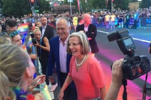lbgt community angry with prime minister malcolm turnbull