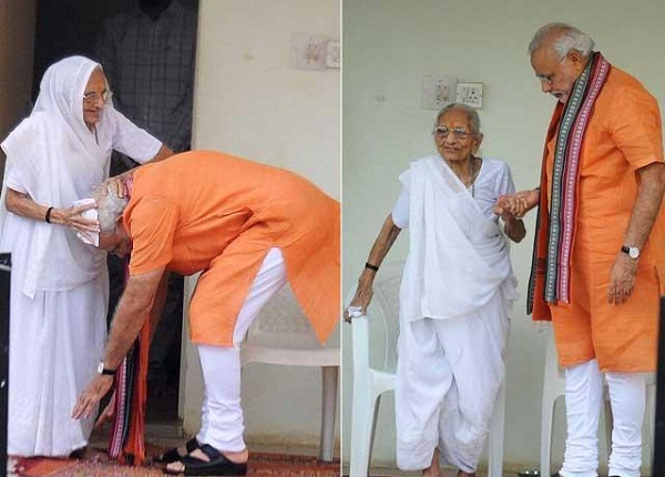 pm modi with mother