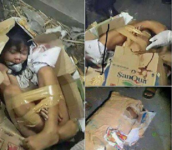 children dead bodies found in container