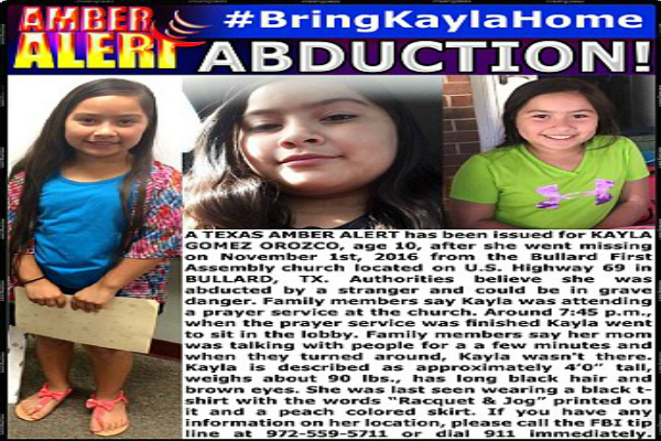 body missing girl 10 texas home four days mysteriously vanished church