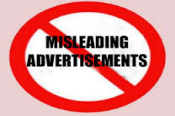 restrictions on misleading advertising celebrities  group of ministers