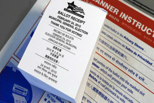 that last language on your ballot receipt it hindi