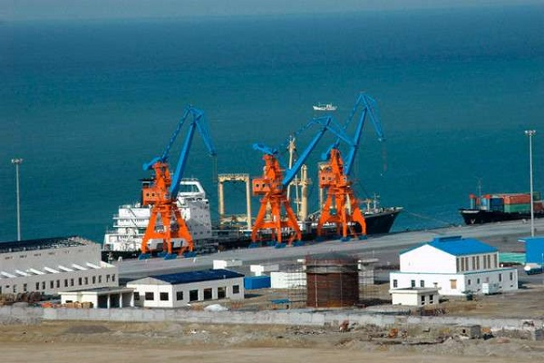 pak gwadar port arrived  first chinese trade convoy