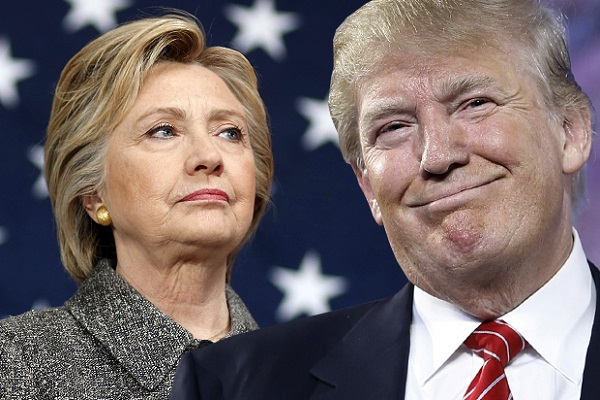 us presidential election   trump one step  far to hilery
