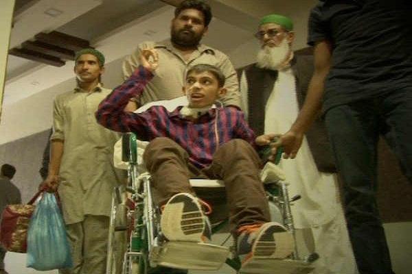 broken bones of 14 year old student of the teacher beating