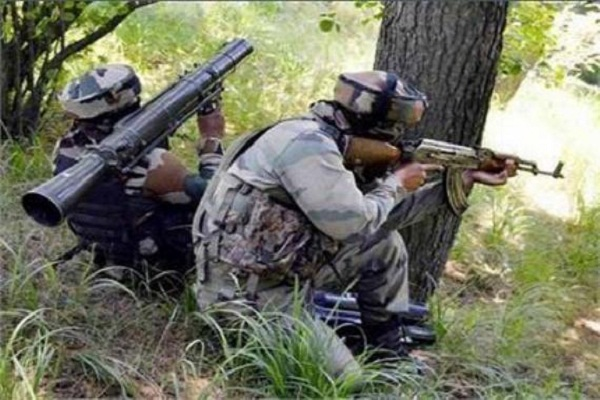 jammu and kashmir  a terrorist security forces in pulwama heap