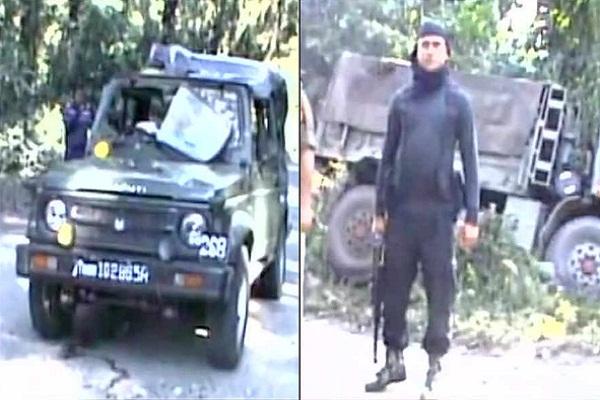 ulfa terrorist attacks security forces in assam