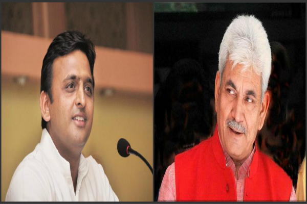 sp government came down on manoj sinha said  is continued in the wilderness and gundaraj up