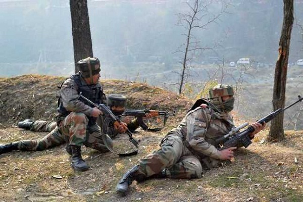 jammu and kashmir  pak army pllnwala heavy fire from across the border in sector