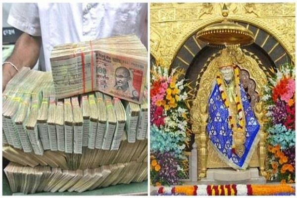 shirdi temple so million donation