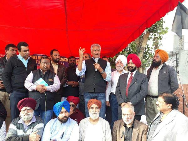 congress protest against note bandi