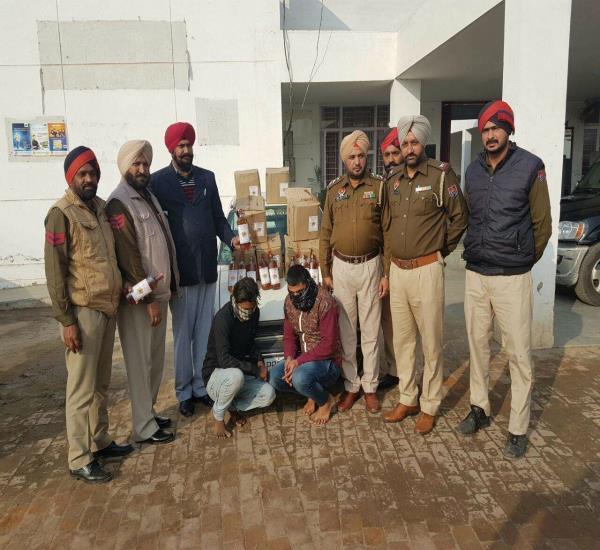 jalandhar police seized 12 boxes wine