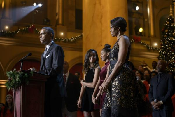obama and michelle obama last christmas address from the white house