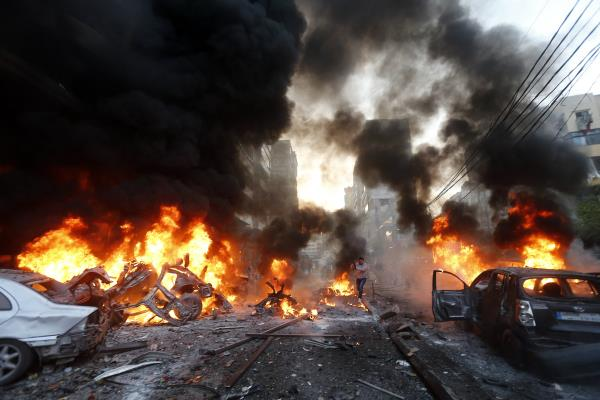 at least 21 killed  43 wounded  as bombs explode at crowded market in baghdad
