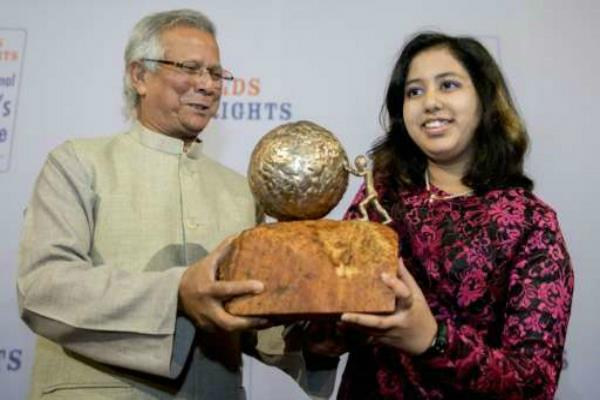 kehkashan basu uae based indian teen wins children peace prize