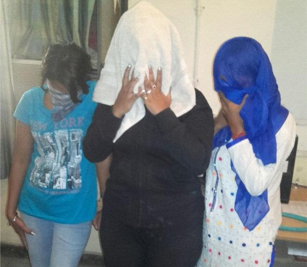 police raids in a guest house  got into a compromising situation girls