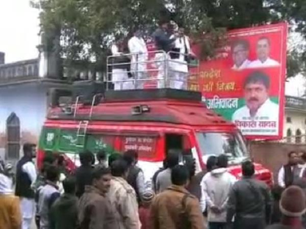 speech delivered by the expelled sp leader mulayam sandesh yatra