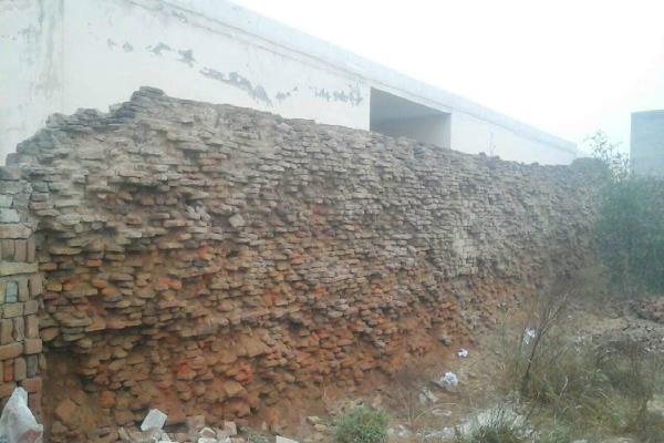 school damage wall