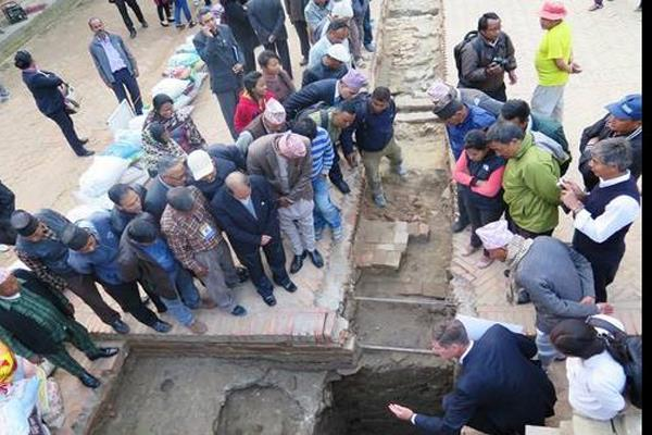 unesco is excavated damaged monuments in nepal