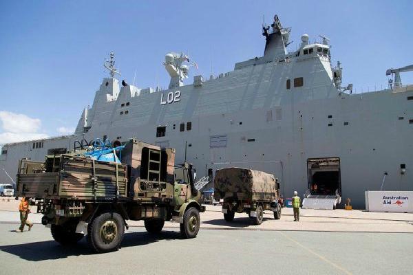 australia sends relief ship to fiji in wake of cyclone winston