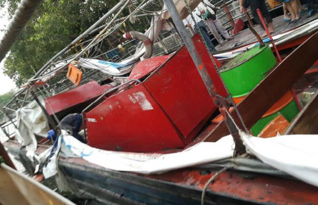 motor boat exploded in bangkok 50 wounded