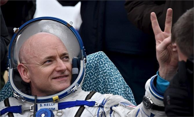 nasa astronaut scott kelly has landed back on earth after one year