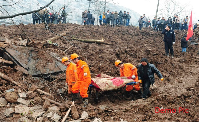 6 killed in landslides in china