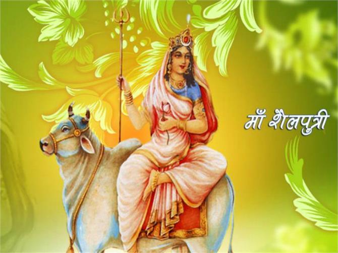 Image result for देवी शैलपुत्री  आज है नवरात्र का पहला दिन, ऐसे करें देवी शैलपुत्री की पूजा 2016 4image 10 14 11598170416 maa shailputri 600 ll