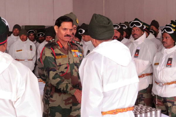 army chief visited glacier