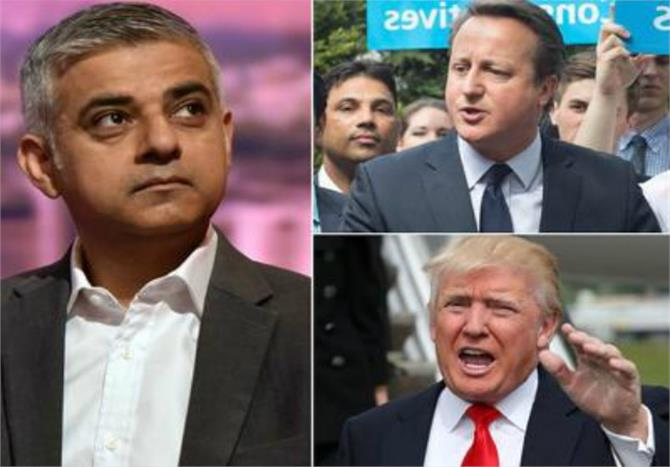 londons new muslim mayor sadiq khan condemns trump style attacks