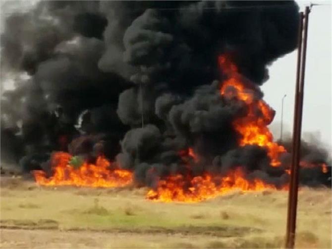 gorakhpur diesel tankers fire