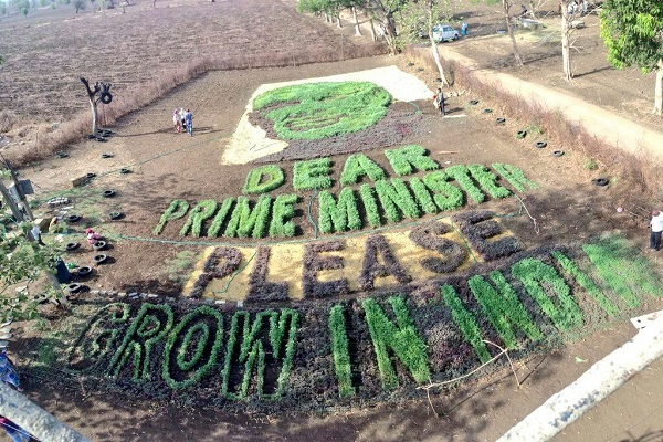 farmers made from vegetables emotional message to pm