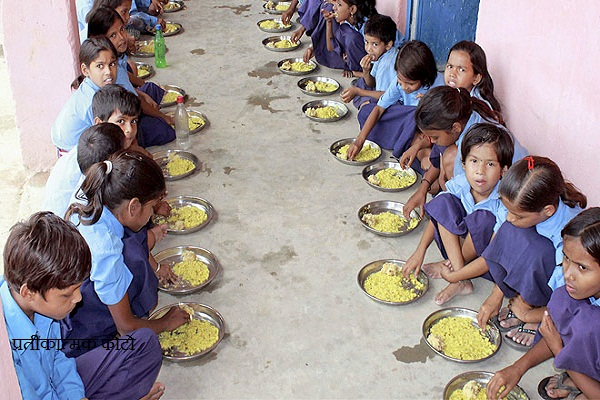 mid day meal to children in the name of being served leftovers