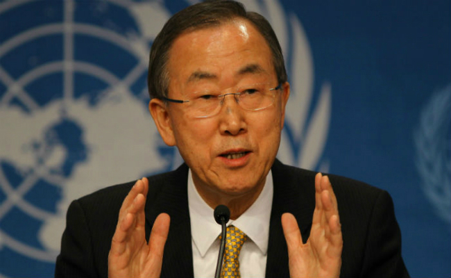 ban ki moon welcomes narendra modi call for early implementation of paris deal
