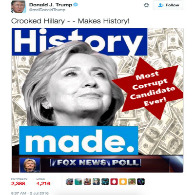 donald trump star of david tweet sparks outrage