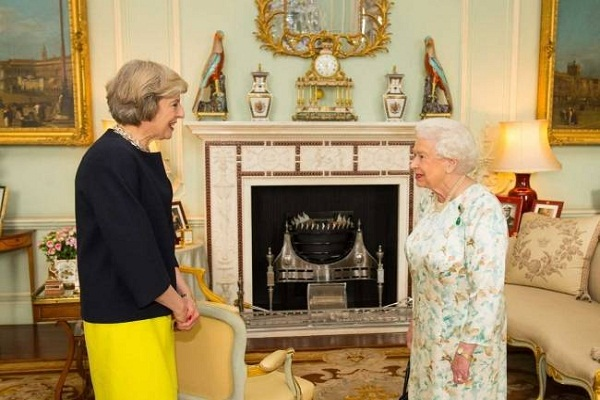 the uk s second female prime minister theresa queen elizabeth declared by