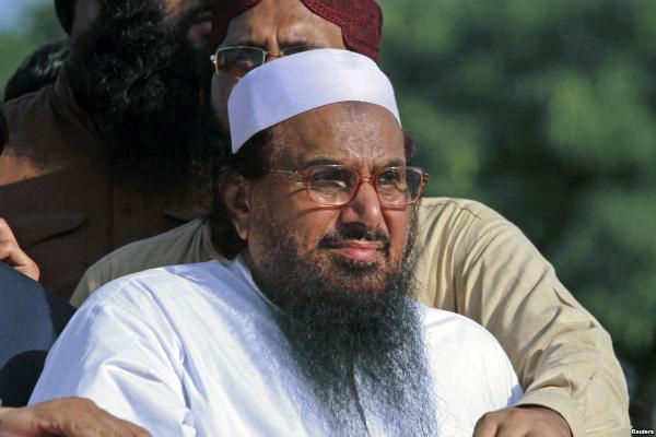 hafiz saeed ask pakistan government not to allow rajnath singhs visit