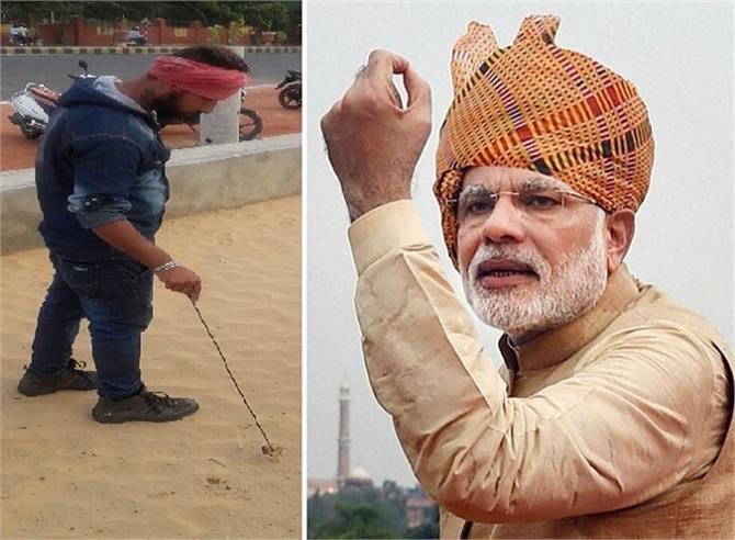 pm modi special narendra cleans the anasagar chaupati daily