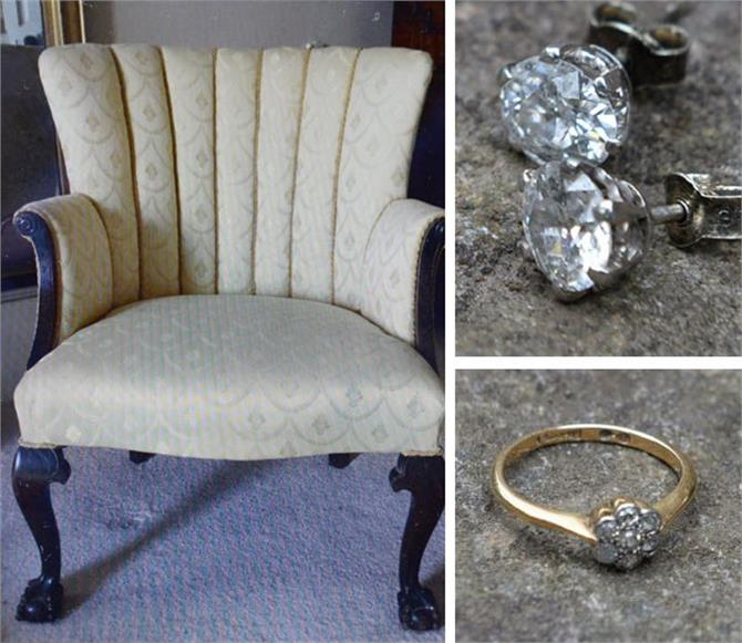 couple buys a old chair and find diamond jewellery inside