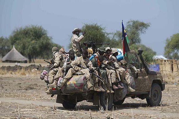 the conflict between the government and rebels in southern sudan