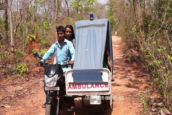 bike ambulance helps saves lives of pregnant women in chhattisgarh