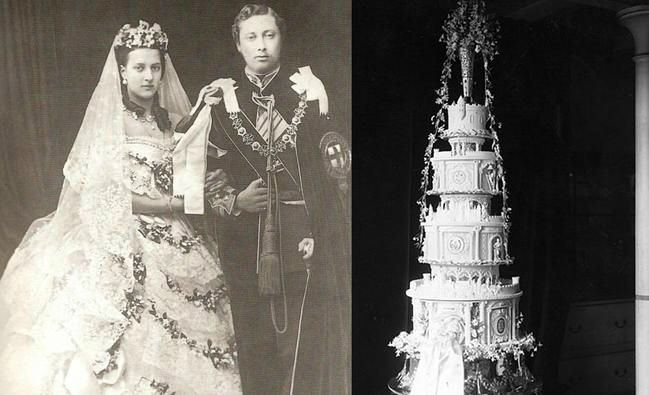 slice of queen victoria wedding cake sold at auction