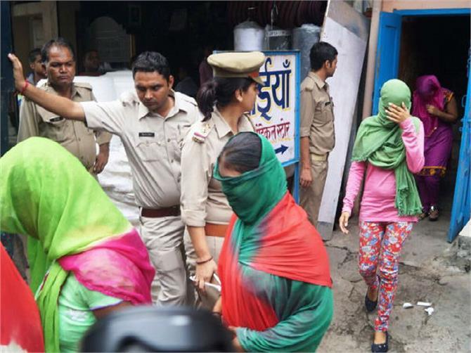 police raid women hiv
