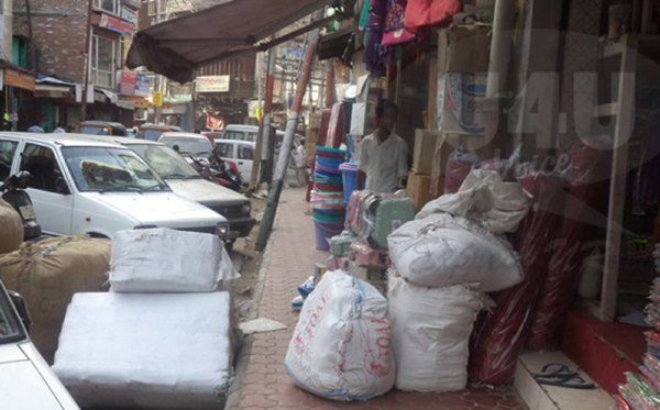 encroachment on the roads of jammu
