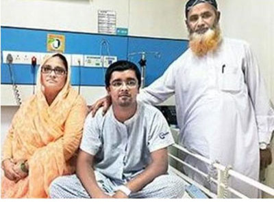 ailing pakistani boy in in mumbai for heart transplant