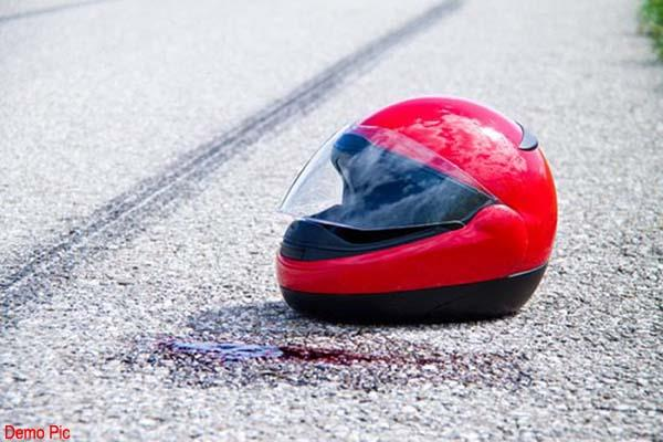 bike rider gets horrific death in road accident