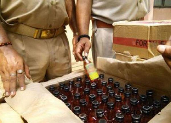 illegal wine recovered by the police