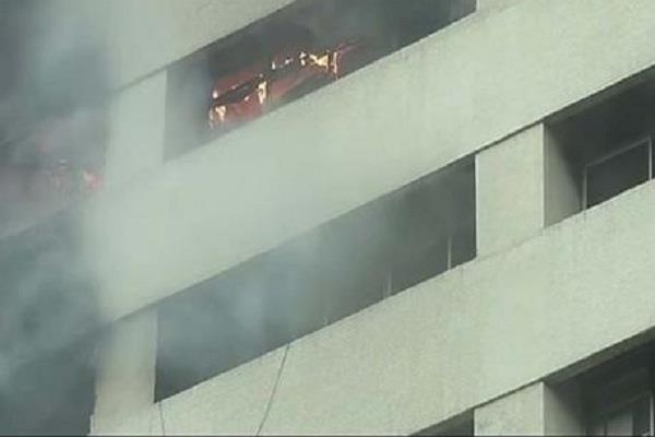 a fire in a building in central kolkata