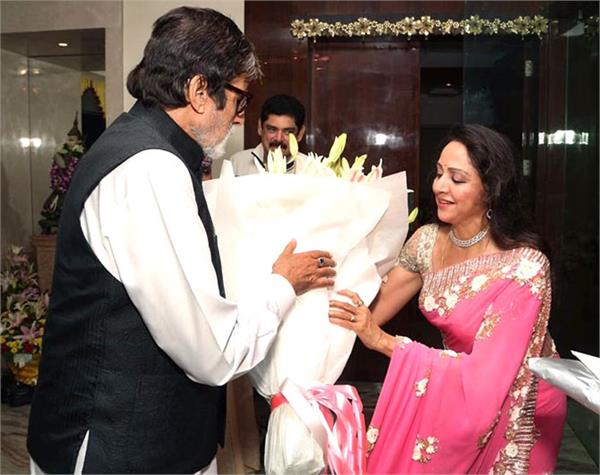 amitabh giving a special birthday wish to hema malini