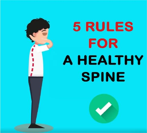 rules for a healthy spine